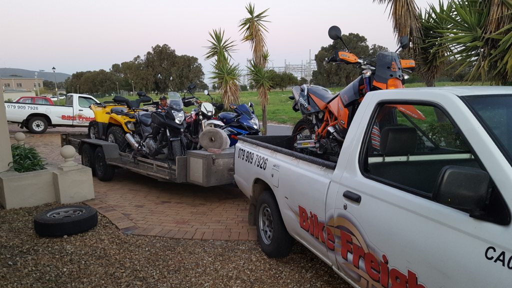 Motorcycle transport trip 216