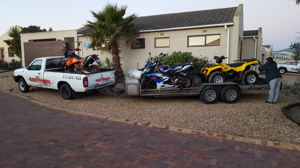 Loading up in Cape Town