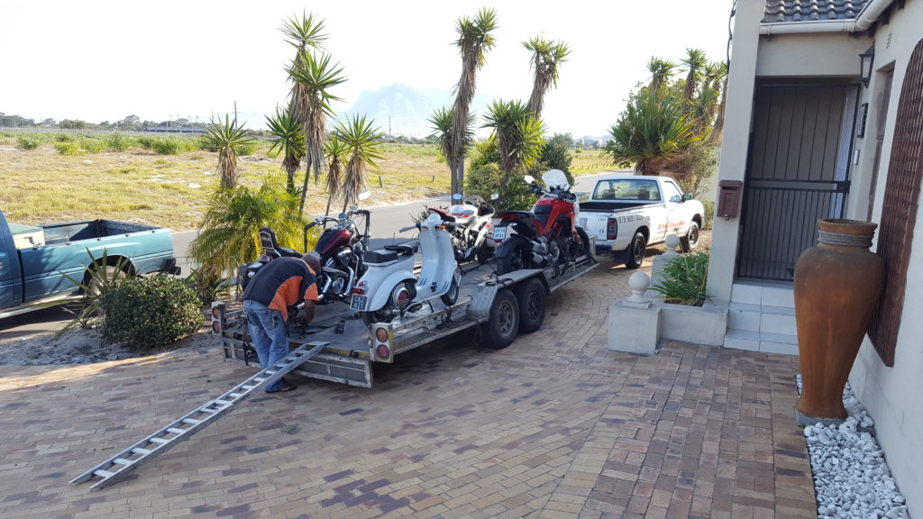 Transporting motorcycles all over South Africa
