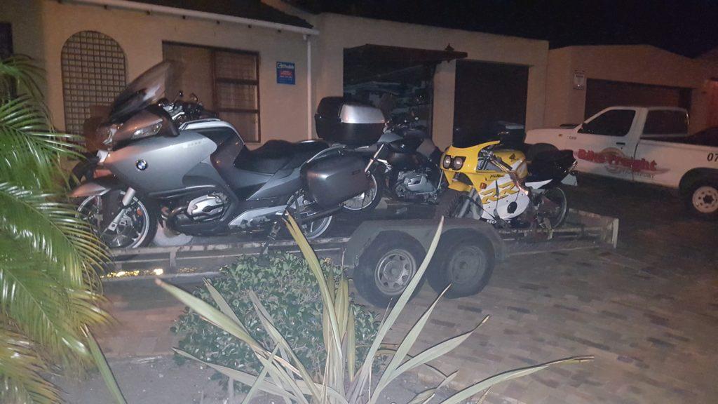 Motorbike transport trip 258