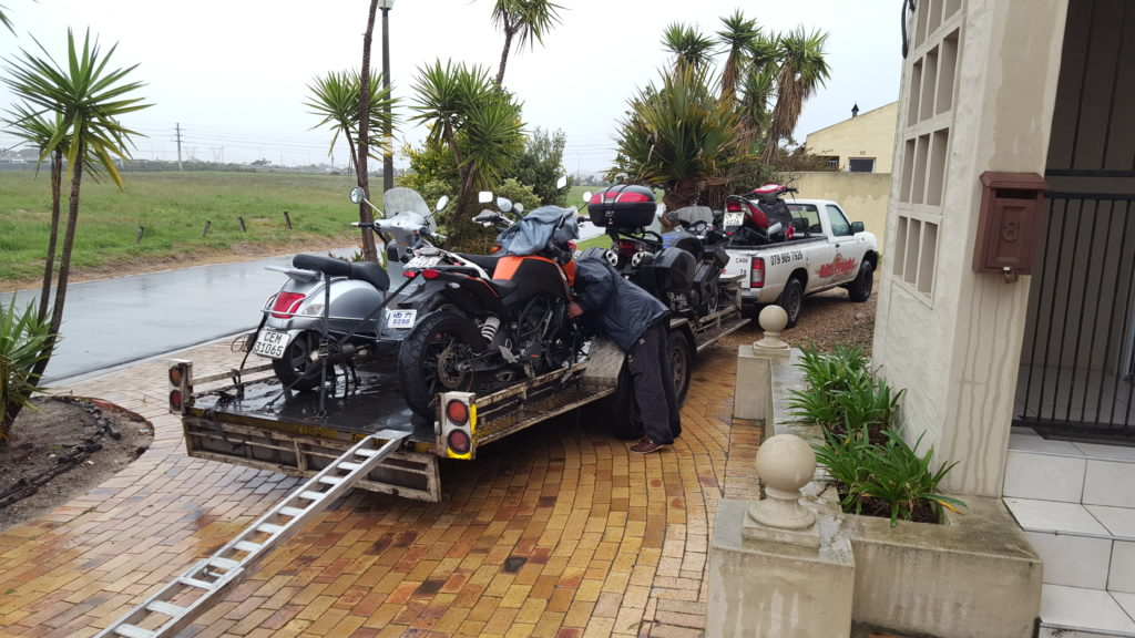Motorcycle transport trip 265