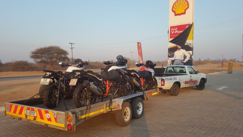 Motorcycle Transport Zambia Trip