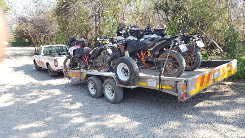 KTM motorcycle transport