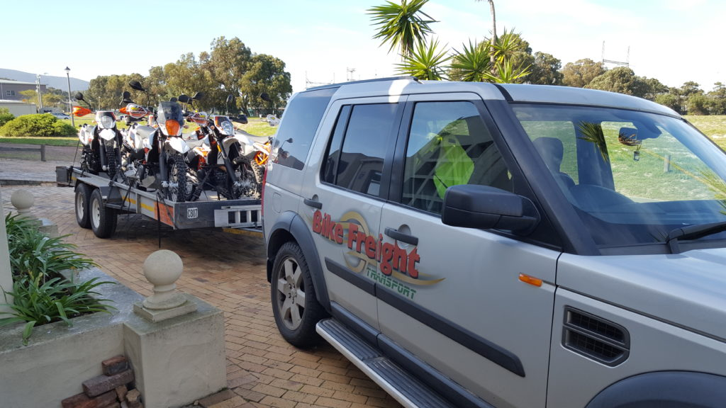 Motorbike Transport to Namibia