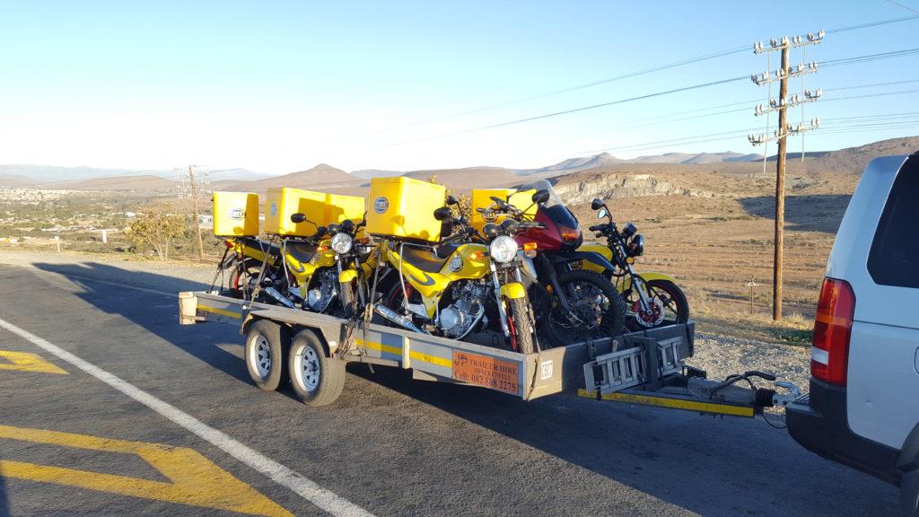 Motorcycle transport trip 306