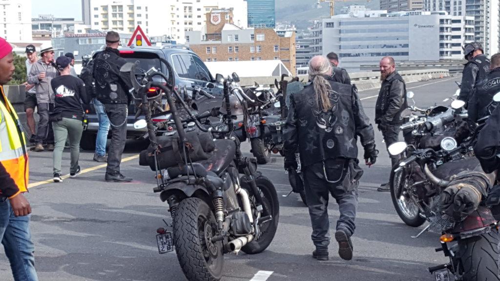Film shoot motorcycle transport